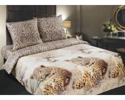 Постельное белье Комфорт Леопарды поплин
