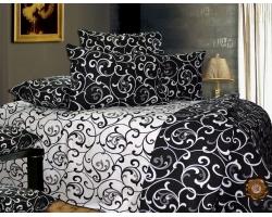 Постельное белье Черные вензеля 3905 ранфорс