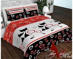 Постельное белье Влюбленные коты R618red ранфорс