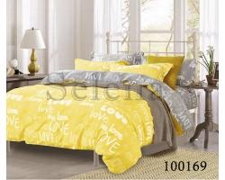Ткань Love на желтом бязь